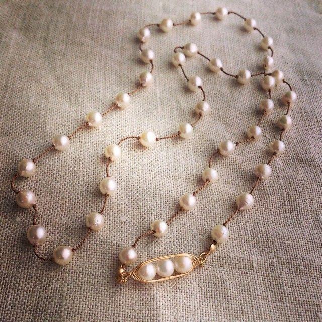アコヤ真珠のフレンチノット ロングネックレス - Yoko's Jewelry