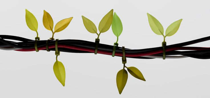 Leaf Tie - cable organizer  by Lufdesign.com