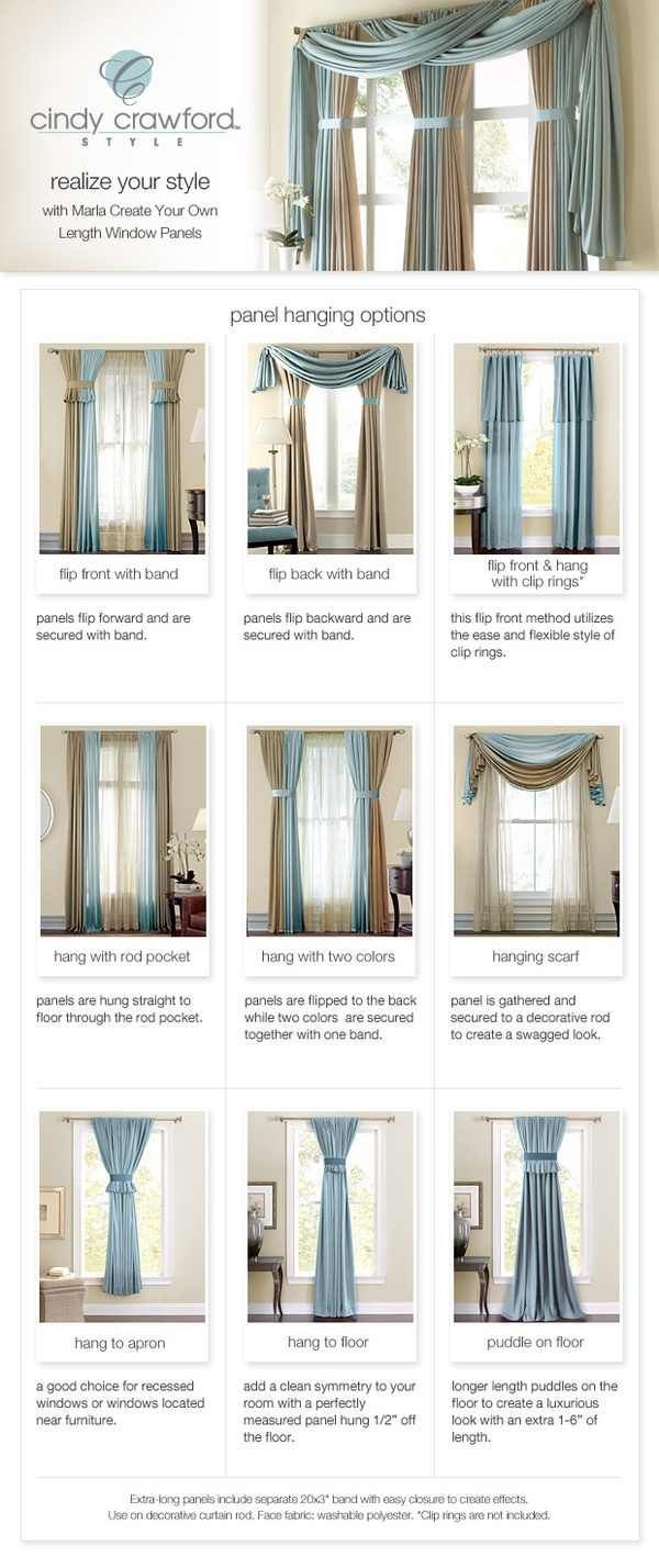 Di diy sliding curtain panels - Curtain Panel Hanging Options Curtains Diy Curtains Diy On A Budget