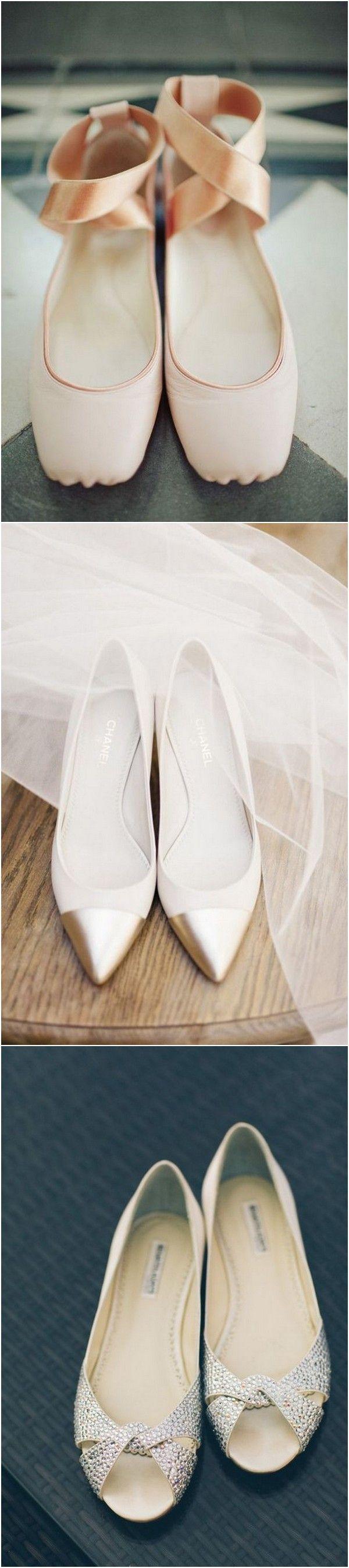 Elegant flat bridal wedding shoes #wedding #weddingshoes #weddingflats