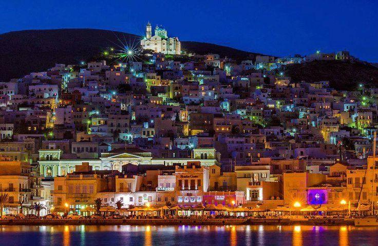 ERMOUPOLIS the capital of the island of Syros.