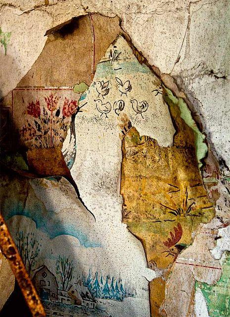 papier mural arraché