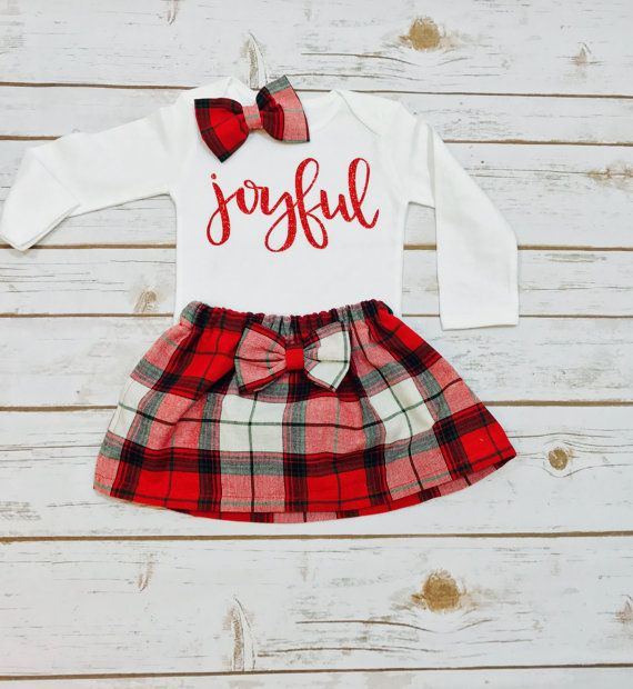 Joyful Christmas outfit | Christmas Outfit | Holiday Outfit | My first Christmas | Christmas Toddler Outfit #ad #afflink