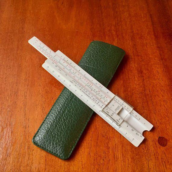 vintage pocket business fabercastell slide ruler from