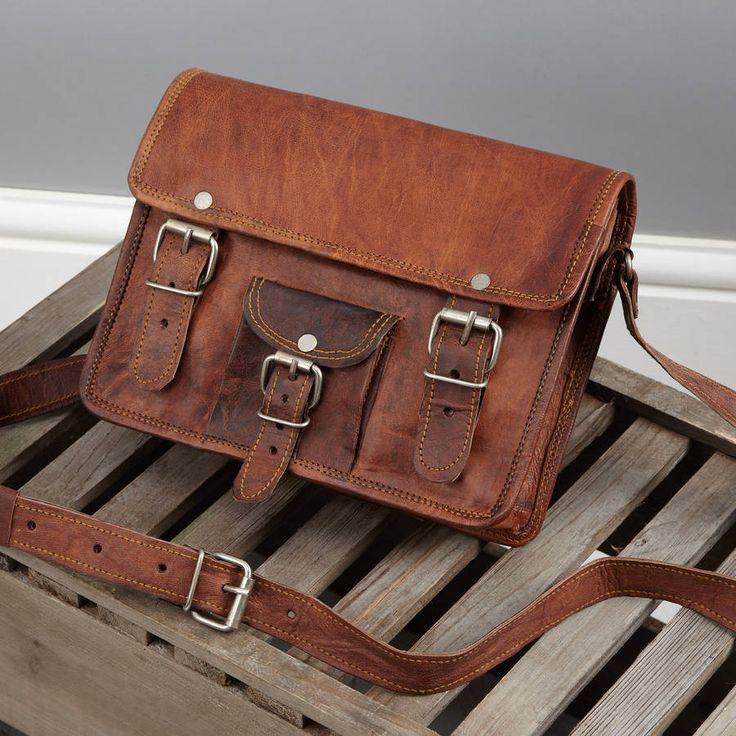 Vida Vida Leather Satchel With Front Pocket