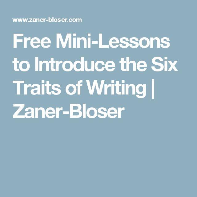 writing traits lessons