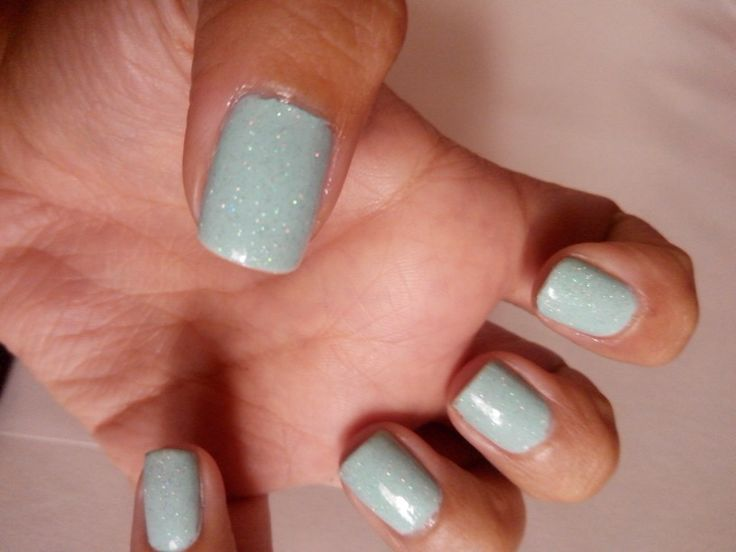 Sky blue and glitter