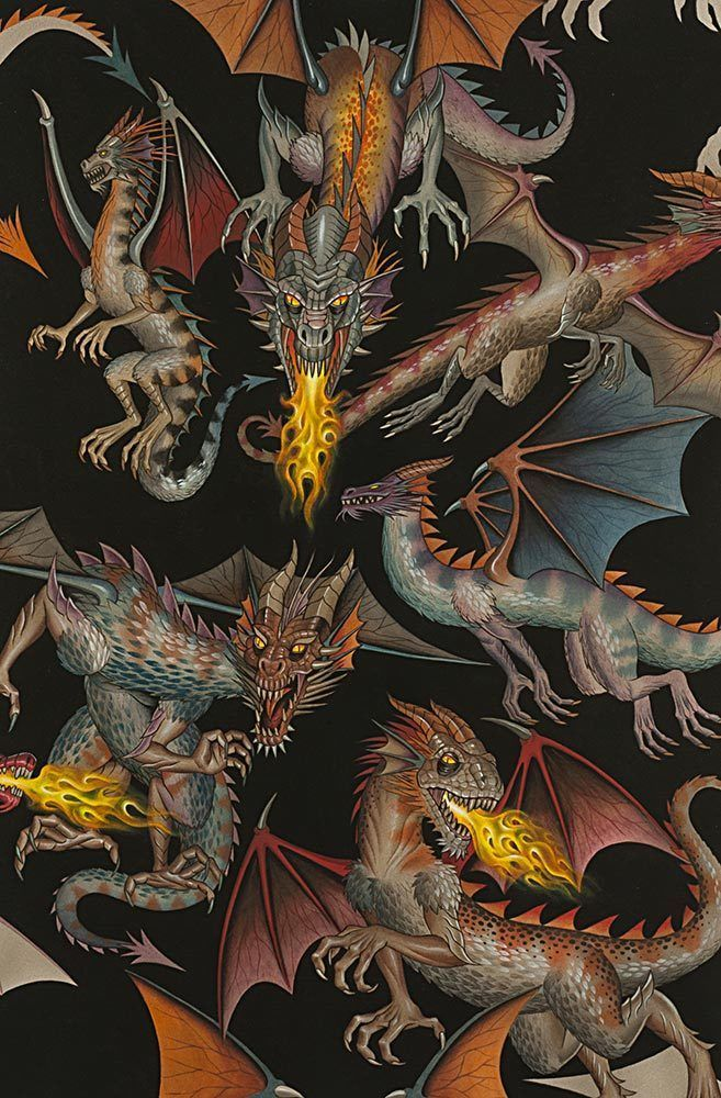 Alexander Henry Nicole Prints 7392 A Tale of the Dragon Cotton