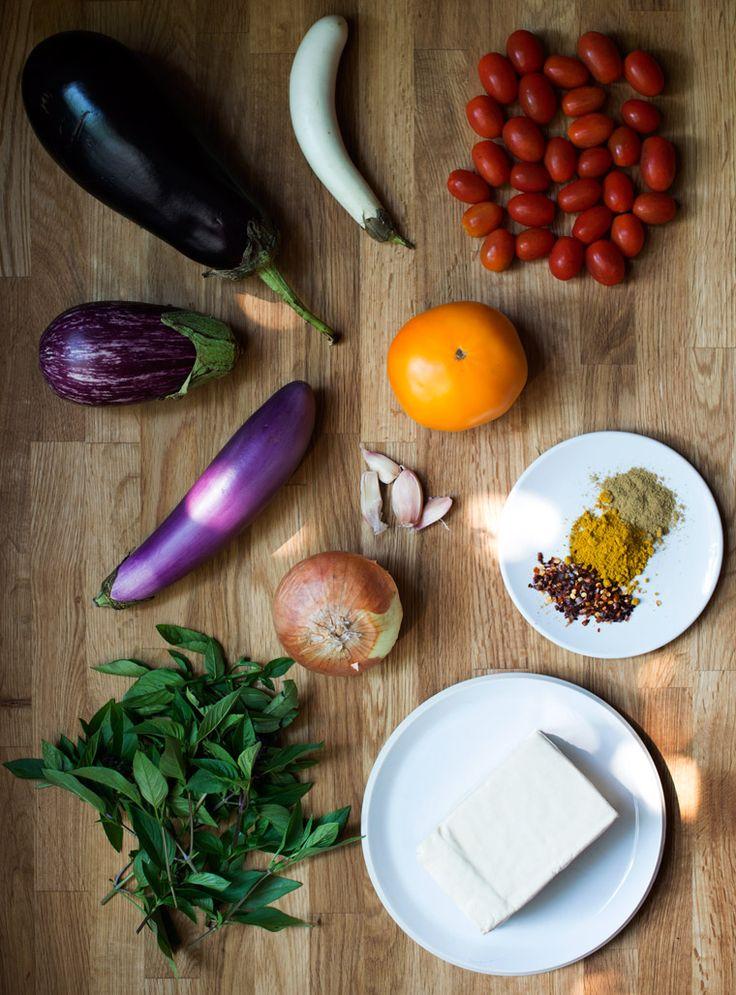 Eggplant & Tofu Ratatouille with Thai Basil - Earthy Feast