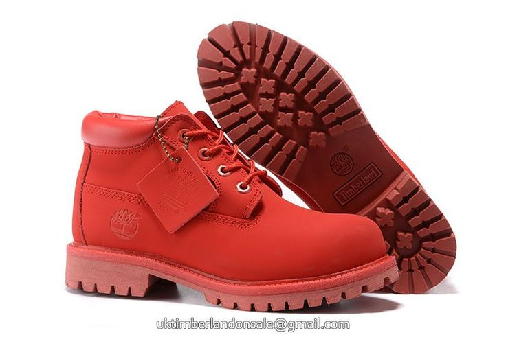UK Timberland Big Kid Waterproof Chukka Boots All-Red £ 56.79
