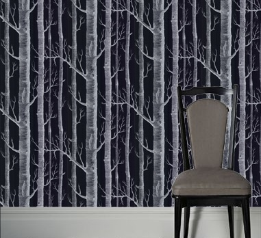 cole and son (wallpapers): Trees Silhouette, Black Wallpapers, Wall Paper, Originals Trees, Cole And Son, Wood Wallpapers, White Prints, Wallpapers Printer, The Originals