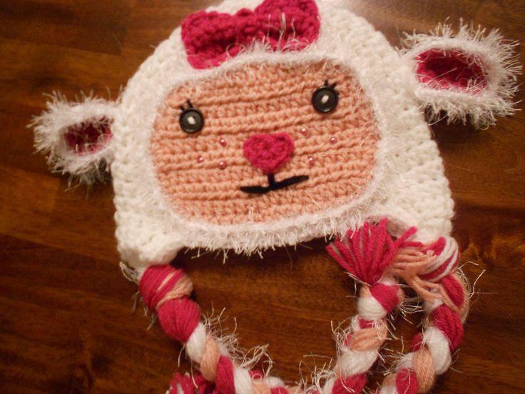 Doc McStuffins Lambie inspired Crochet Hat-Newborn to Adult. ($30.00, via Etsy, no pattern)