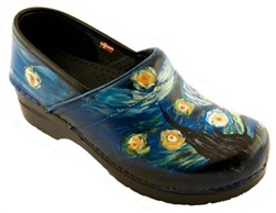 Hand painted sanita shoes from Swank.  They will even put a portrait of your dog on your shoes!