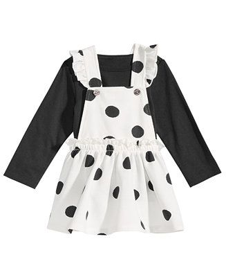 1fe2ab746d85 Shop First Impressions Baby Girls 2-Pc. T-Shirt   Dot-Print Jumper ...