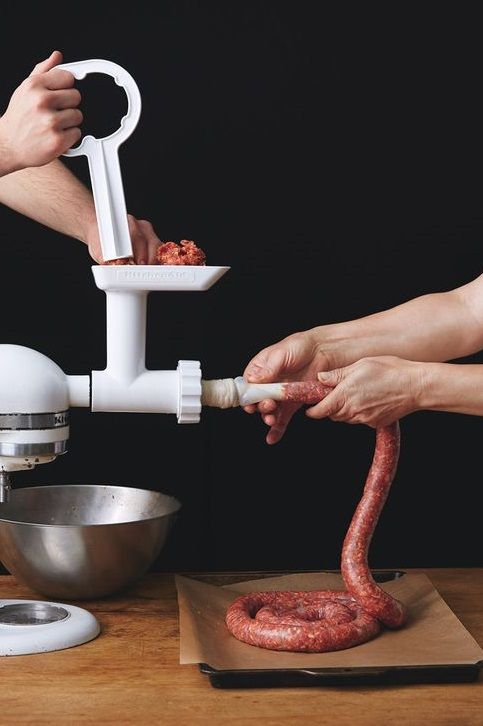 """HOMEMADE SAUSAGE PRIMER ~~~ several recipes, grilling tips, and equipment suggestions shared from, """"the meat hook"""" in brooklyn, new york. [101] [bonappetit]"""