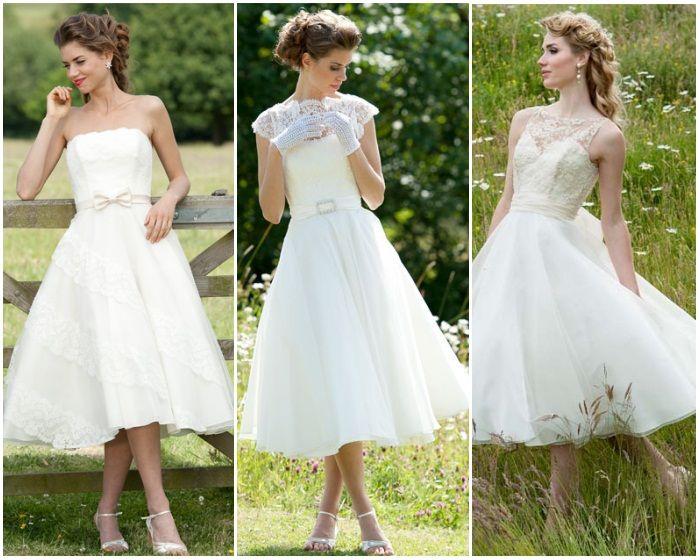 Lyn Ashworth short wedding dresses. Left: Daphne | Centre: Mitzi Short | Right: Constanza
