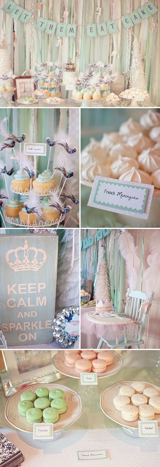cute idea if I ever have a baby girl :) Winter in Paris themed birthday party. @Bria Sinnott - next year's Christmas party theme!