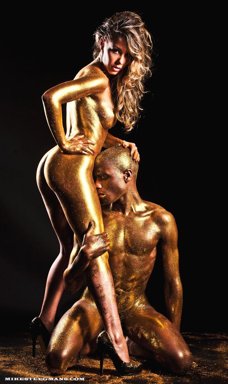 Summer cummings fetish gold body paint