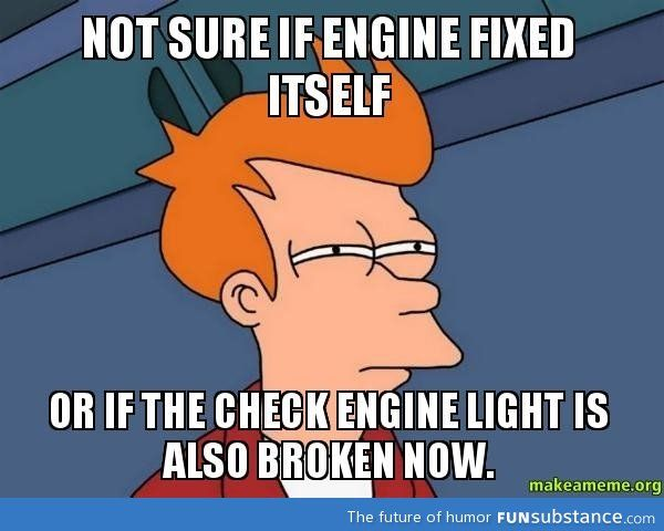 Check engine light turned off on its own today