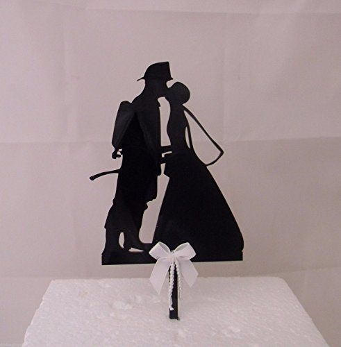 Wedding Reception party Silhouette Fireman Firefighter Cake Topper -- Want to know more, click on the image.