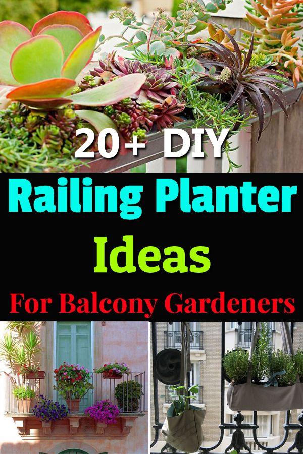 20 Diy Railing Planter Ideas For Balcony Gardeners Railing Planters Herb Planters Balcony Garden