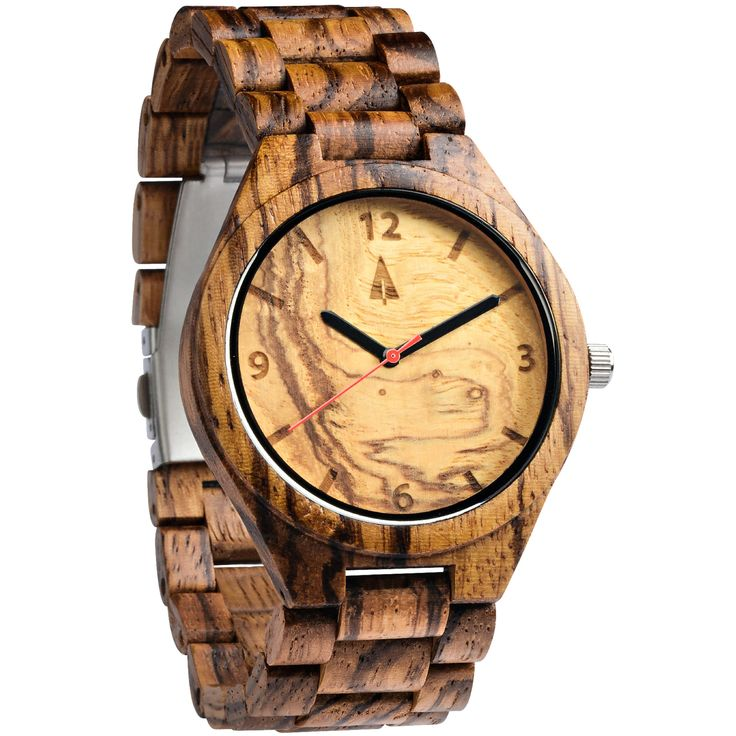 All Wood Watch // Zebrawood   Olive Ash from Tree Hut Design