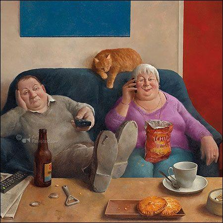 """""""Familie aan de lijn"""". www.mariusvandokkum.nl  © Marius van Dokkum"""
