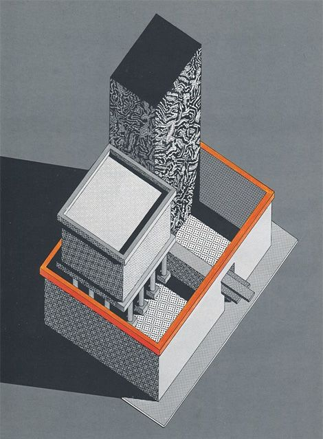 ©ettore sotsass - architectural drawing