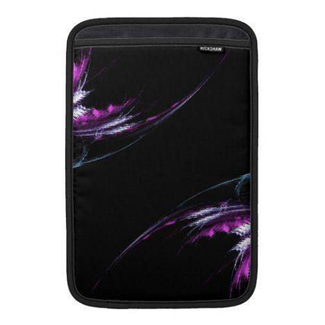 Purple Leaves Fractal MAcbook Air Rickshaw Sleeve #laptop #computer #ipad #mac #sleeve #bags #modern #colorful