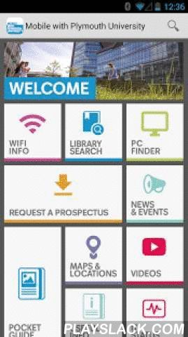 Mobile With Plymouth Uni  Android App - playslack.com ,  Welcome to Mobile With Plymouth University, powered by campusM™, a pioneering application that allows students, both current and prospective, to access comprehensive information about Plymouth University.Features:- Timetabling- PC Availability- Access student focussed information to support your learning and your time at Plymouth University.- Search maps for buildings and locations, on and off campus.- Find out which Student Computing…