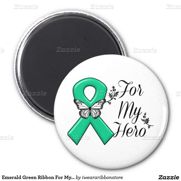 12 Best Emerald Green Awareness Ribbon Images On Pinterest