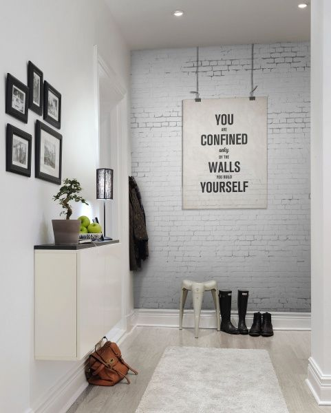White Brick Wallpaper Kitchen: 17 Best Ideas About White Brick Wallpaper On Pinterest