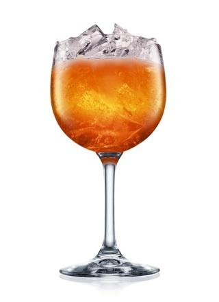 Prohibition Punch (2 Parts Dark Rum 1 Part Orange Flavored Brandy 4 Parts Passionfruit Juice 2 Parts Champagne 1 Splash Lemon Juice 1 Splash Cranberry Juice)