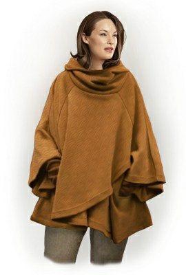 5798 Personalized Poncho Sewing Pattern  Women Poncho by TipTopFit, $2.49