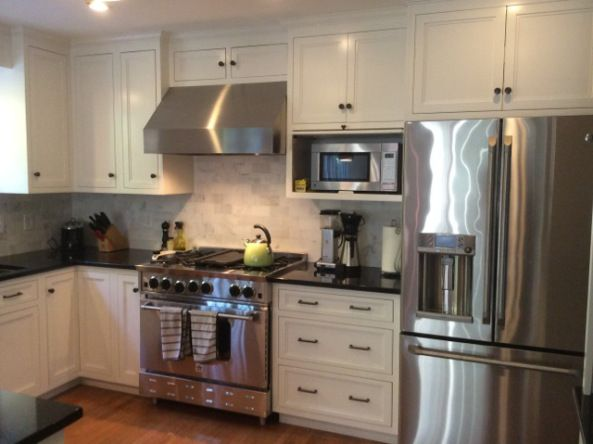 19 best images about refrigerator cabinet on pinterest for Stove top with built in vent