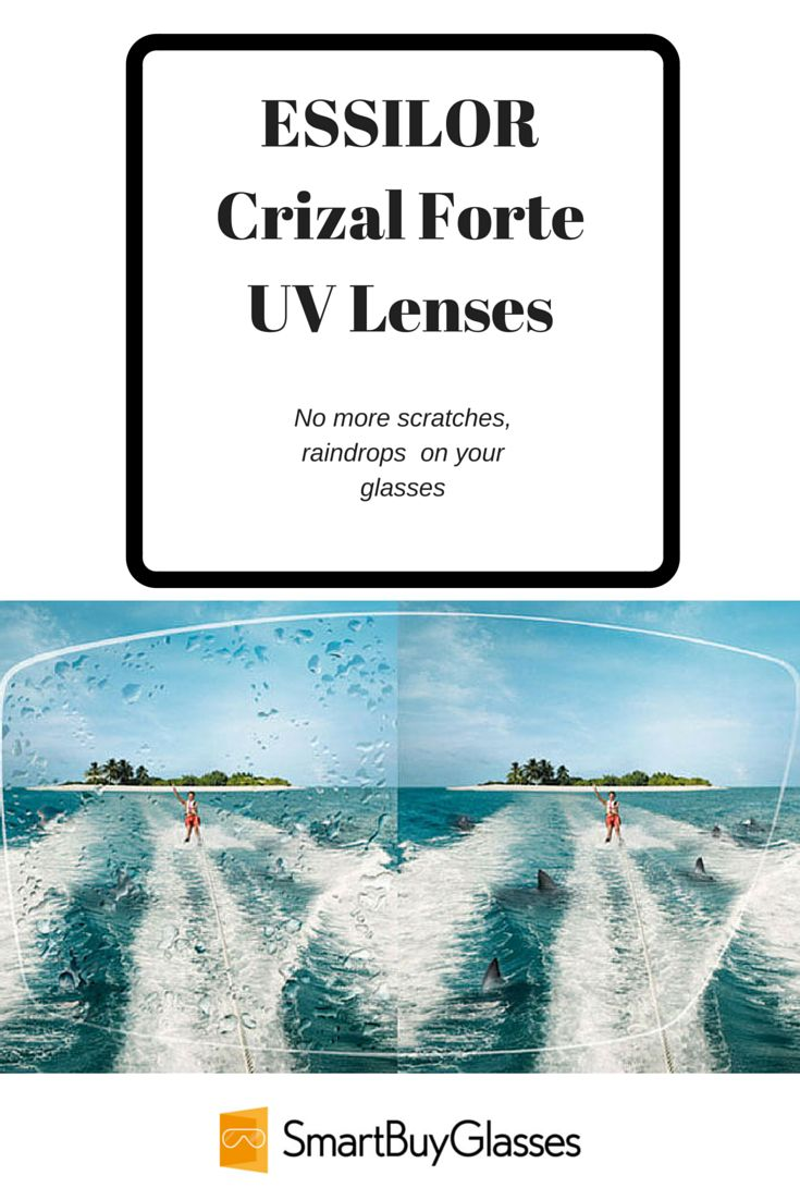 Are you tired of being blinded in the rain, constantly cleaning off smudges and losing sight due to scratched lenses? Discover ESSILOR Crizal Forte UV lenses. Learn more at http://www.smartbuyglasses.com/optical-center/eyeglasses/essilor-crizal-forte-uv-lenses