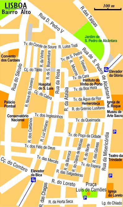 Bairro Alto at Lisbon
