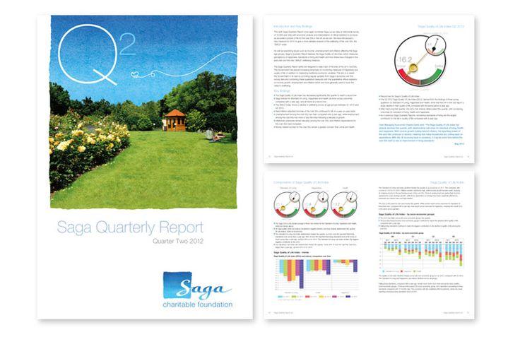 Chameleon Design | Saga quarterly report | Brochure Design Agency