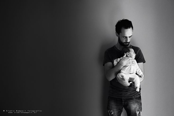 Lifestyle photoshoot baby girl with daddy! Black&white