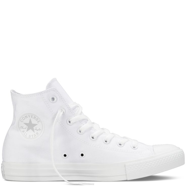 Chuck Taylor Monochrome Canvas white hi-top  I must have a new pair for spring.
