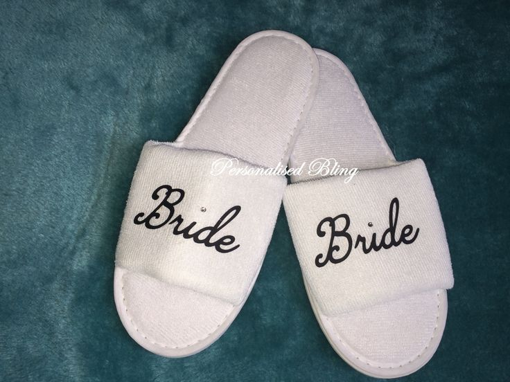 Bride Spa Slippers Personalised Slip Ons Shose Mother Bachelorette Sister Of The Groom