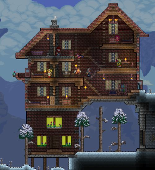 104 Best Images About Terraria On Pinterest House Design Winter House And Click