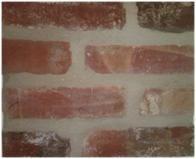 Source for reclaimed brick - Antique St. Louis Thin Brick Veneer Tile, Sq. Ft.