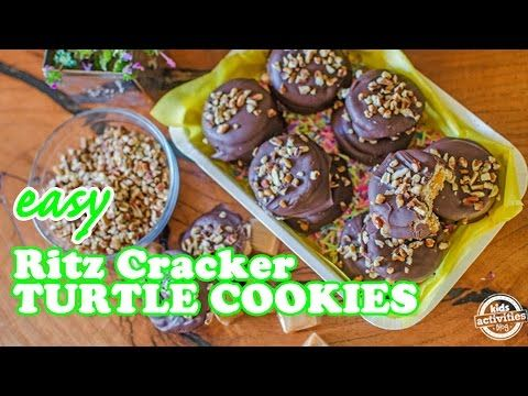 Easy Ritz Crackers Turtle Cookies – YouTube