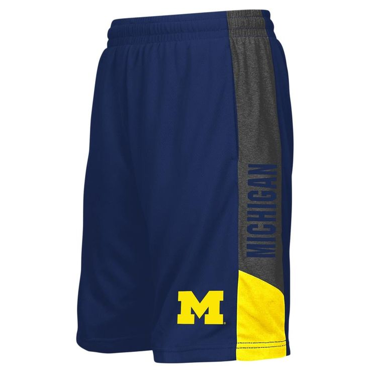 University of Michigan Wolverines Youth Shorts Athletic Basketball Short