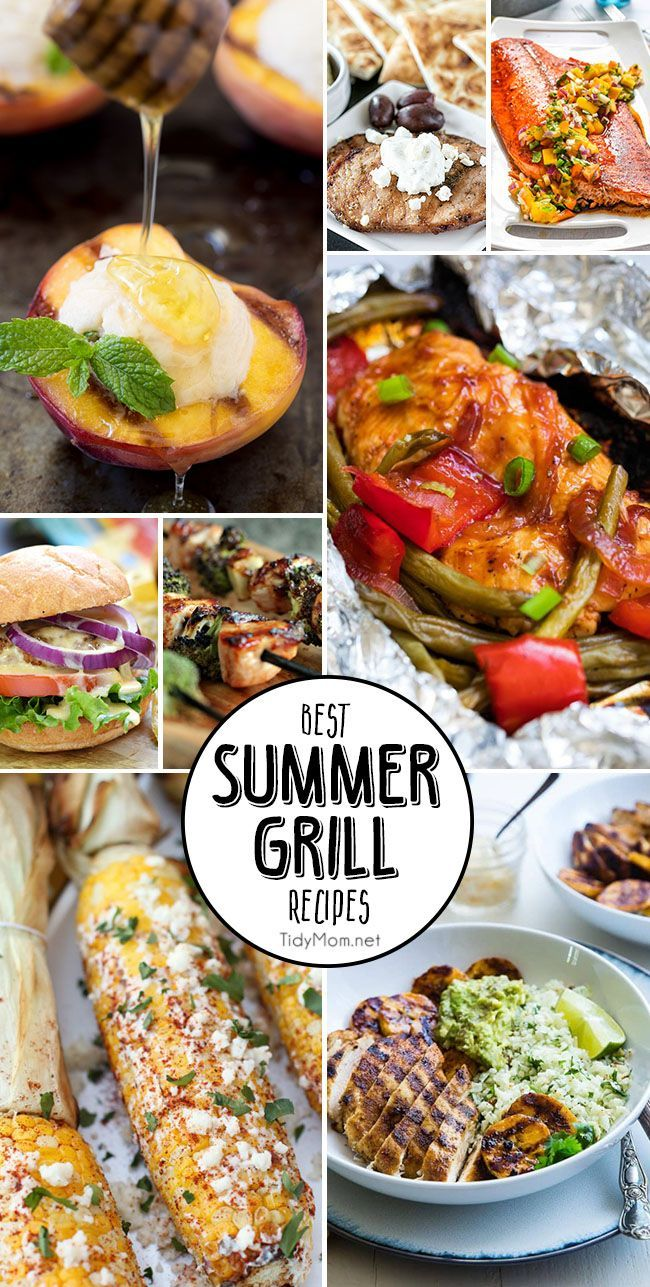 Grab the tongs, your apron and get your grill on! Whether you're a gas griller or charcoal griller, here are 8 of the Best Summer Grill Recipes you must make. Get all the recipes at TidyMom.net