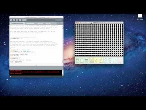 Processing: LED Matrix Visualizer - YouTube
