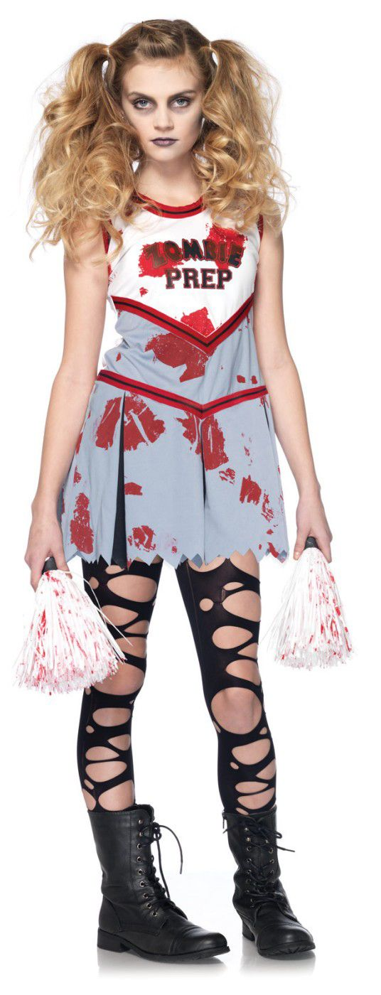 zombie cheerleader girl costume the zombeatles a hard days night of the living dead halloween party decorations ideas pinterest zombie