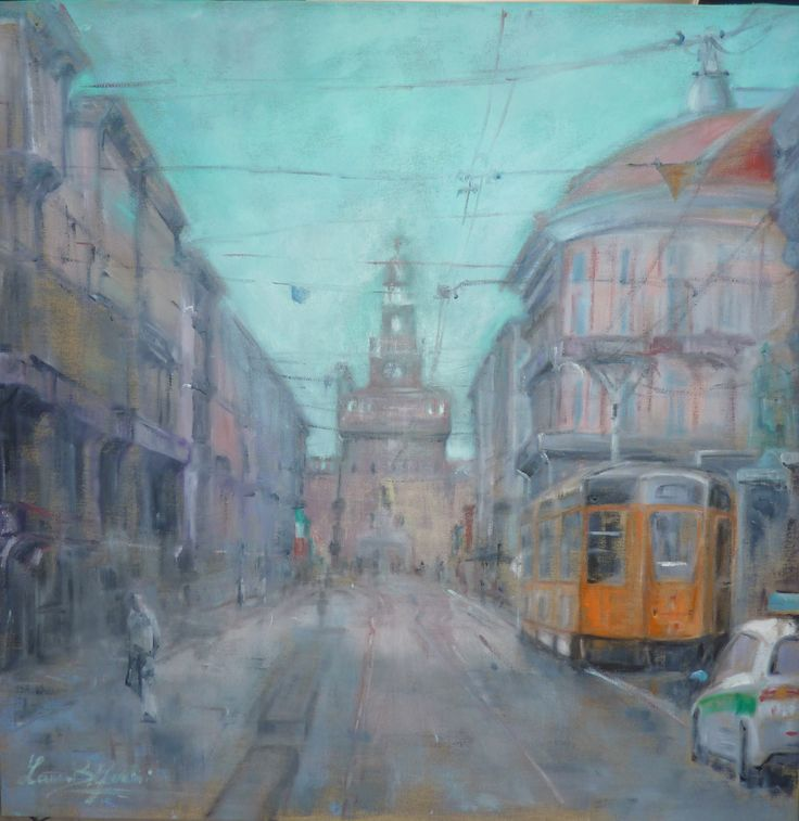 """Via Dante.Milano"" 70x70 oil on canvas"