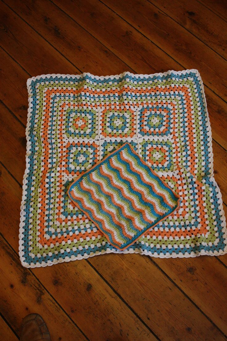 Martha's baby blanket with its mini spin-off, the dolly blanket.